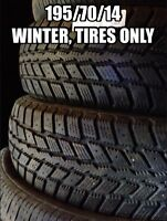 195/70/14, Two studded winter tires