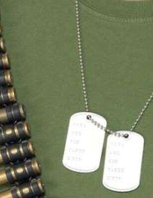 Armee Kostüm Militär Hundemarken & Kette Soldaten Hundemarken Neues von - Militär Hunde Kostüm