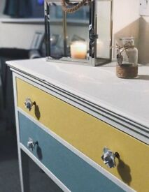 Upcycled shabby chic vintage sideboard.