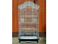 BRAND NEW Tall White Bird Cage For Sale [Suitable for Budgie/Cockatiel/Lovebird/Parrot/Canaries/Etc]