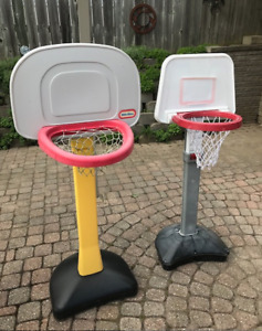 TWO TODDLER BASKETBALL NETS IN FANTASTIC SHAPE!!