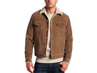 Vintage Levi's Men's Type 3 Sherpa Trucker Long Sleeve Jacket, Brown CORDUROY size M 36-40