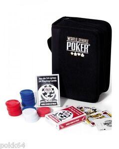 2 jeux travel set World Series of Poker Portfolio de voayage WSOP 300 jetons