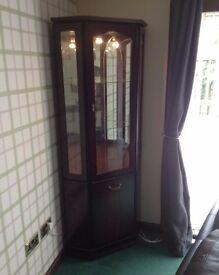 Mahogany corner display unit