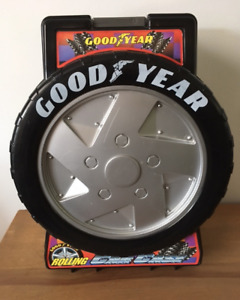 GOODYEAR TOY CAR STORAGE 'CARRY ON LUGGAGE' IN GREAT SHAPE!!