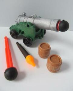 Playmobil Pirate/knight/castle weapon: Green firing cannon, torch & missiles NEW