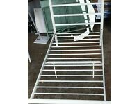 Habitat Avalon Single Metal Bed Frame - White No030609