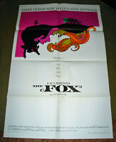 RARE 1967 D H LAWRENCE THE FOX LESBIANISM CANADIAN MOVIE POSTER