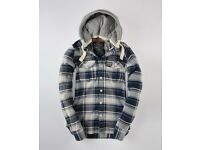 Women's Superdry Blue Lumberjack Hoodie Size Small / 8
