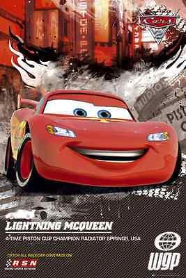 DISNEY CARS 2 LIGHTNING McQUEEN MAXI POSTER NEW FP2575 B130