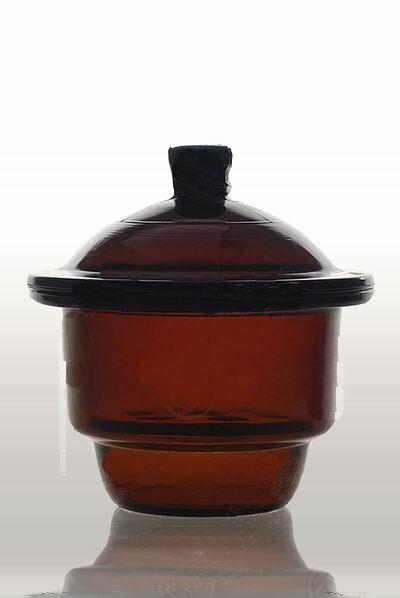 Lab glass  amber desiccator jar dryer 120mm new