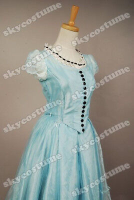 Tim Burton Alice In Wonderland Alice Costume Blue Dress Cosplay Party Dress Prom - Alice In Wonderland Tim Burton Costumes