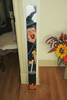 "Hand Painted HALLOWEEN Witch Hanging / Standing Sign - 41"" x 4"""