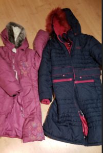 winter coat girls, size 6 and 12