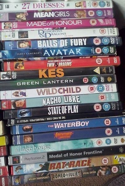 68 x DVD'S. Genuine , little used articles. 58 x 12 yrs and 15 yrs rating . 10 x 18 yrs rating £ 25