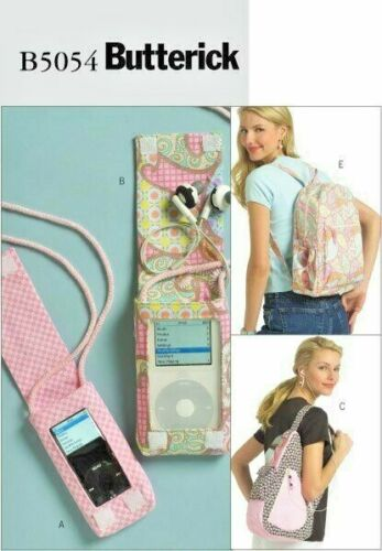 Butterick 5054 - Stylish Vintage Backpack & MP3 Covers To Sew ... School Ready?