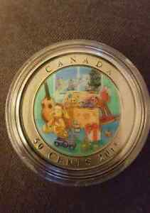 2015 50-Cent Coin   HOLIDAY TOY BOX