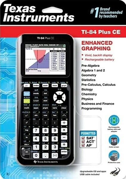 Texas Instruments TI-84 Plus CE Graphing Calculator. New in
