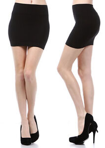 MINI-SKIRT-Seamless-Stretch-Tight-Short-Fitted-Body-Con-Clubwear-Juniors-Onesize