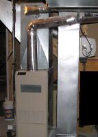 Furnace, duct work and gas service available