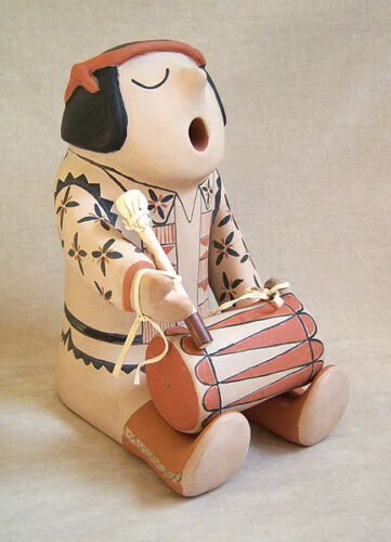 """MARY TRUJILLO Signed Original """"Drummer"""" Figure - LISTED"""