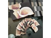 16 Piece Dinner Table Placemat and Coaster Set, 8 Placemats and 8 Coasters