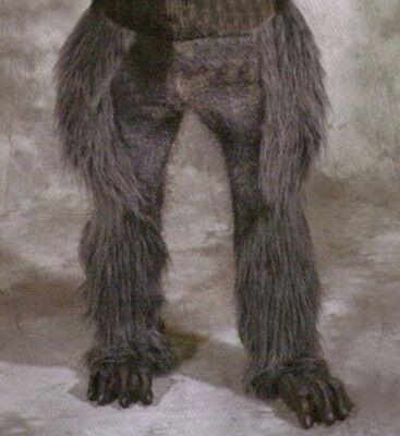 Beast Legs & Feet Gray Wolf Hairy Werewolf  Animal Adult Latex Halloween - Grey Werewolf Feet