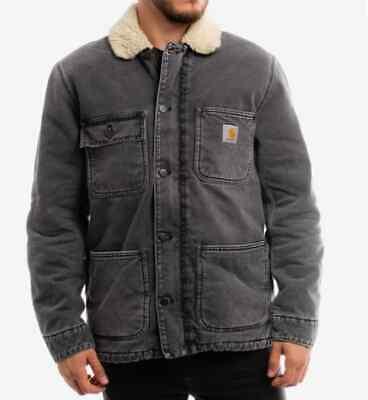 Chaqueta Hombre Carhartt Fairmount Abrigo (Negro Worn Blanqueado) Talla XL
