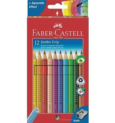 Faber-Castell Jumbo Grip Color Pencils12 Colours Triangular (Faber Castell Jumbo Grip)