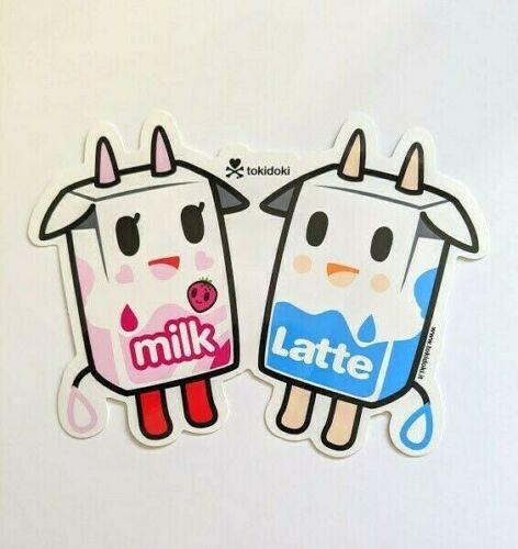 tokidoki sticker - Latte and Strawberry Milk