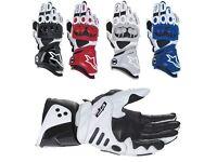 Alpinestars GP PRO motorcycle race gloves motorbike not rst spidi spada berik. Race leathers gloves