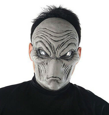Grau Alien Maske Area 51 UFO Halloween Roswell Film Kostüm Maske Neu