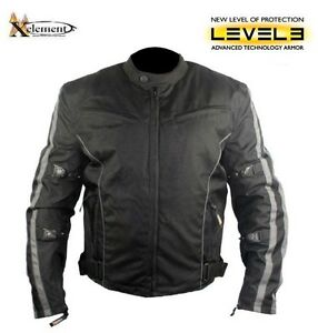 Xelement Men's Black and Grey Armored Fabric Motorcycle Jacket Blacktown Blacktown Area Preview