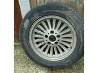 BMW SPARE WHEEL WITH ALLOY WHEEL GOOD CONDITION