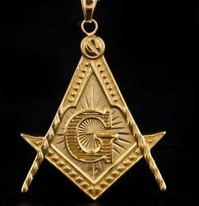 Masonic gold pendant AB#15