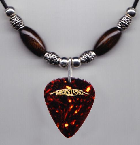 Boston Tom Scholz Brown Tour Guitar Pick Necklace