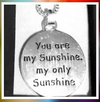 YOU ARE MY SUNSHINE Necklace Silver Tone 16