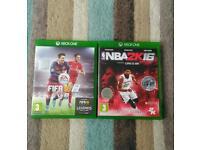 FIFA 16, NBA 2k16 Xbox One