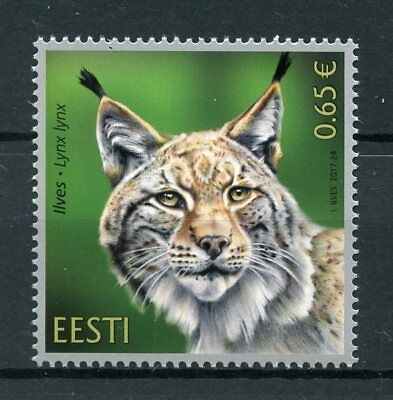 Estonia 2017 MNH Estonian Fauna Lynx 1v Set Wild Animals Stamps