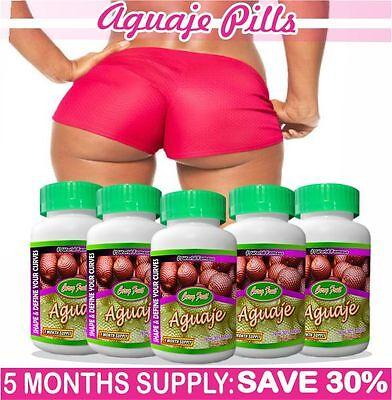 Aguaje Curvy Fruit : 5 BOTTLES X 100 Pills 530 mg,  SAVE 30% (US Seller)