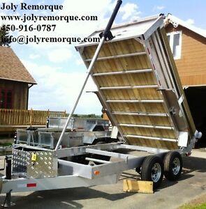Remorque dompeur NEUVE 100% aluminium 6x10 2x 3500 lbs