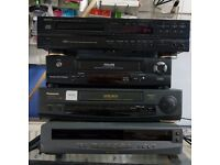 JOB LOT OF VHS/CD PLAYERS (DENON/PHILLIPS/SHARP/PANASONIC)
