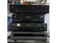 JOB LOT OF VHS/CD PLAYERS (DENON/PHILLIPS/SHARP/PANASONIC)