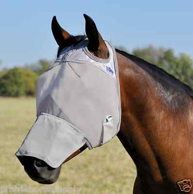 CASHEL CRUSADER COOL FLY MASK for STANDARD HORSE COVERS Long NOSE sun protection