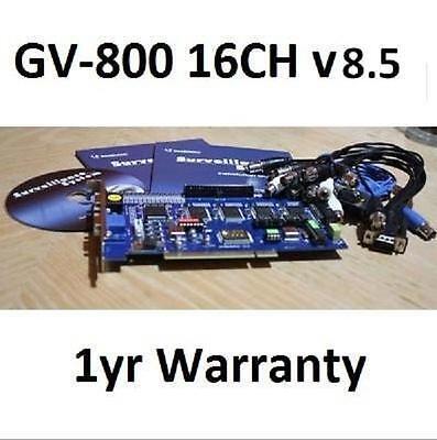 Geovision Surveillance GV 800 GV-800 DVR Capture Card v8.5 16CH Security **NEW**