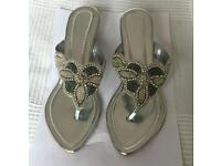 Indian style silver sandals