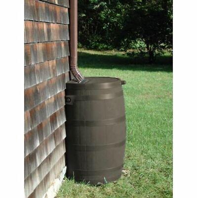 Water Storage Rain Barrel 50 Gal Collection Catcher Flat Back Screen Spigot New