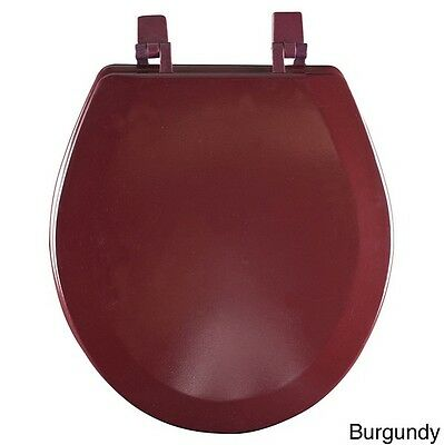 Wood Toilet Seat Round Decorative Burgundy Colored Lid Best Wooden Replacement