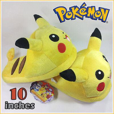 Nintendo Pokemon Pikachu Plush Soft Slippers Toy Collectible 10
