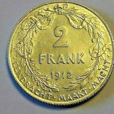 2 Francs, 2 Frank, 1912, TTB-SUP, Argent, KM:75  Belgique Belgïe